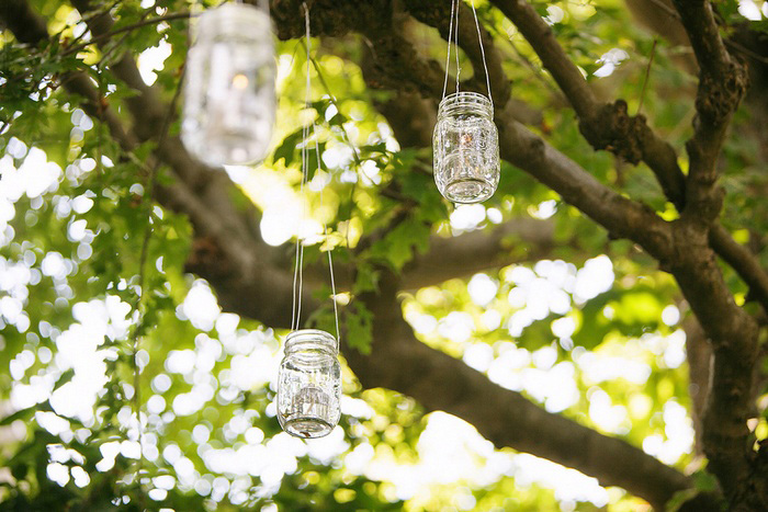 hanging mason jar lights