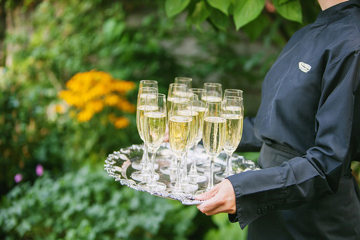 champagne for wedding reception