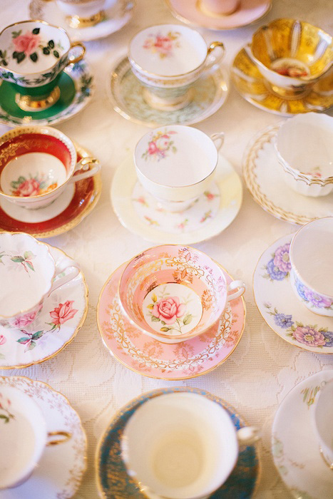 wedding vintage tea cups