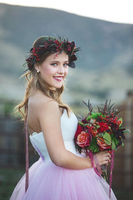 bridal portrait on the farm