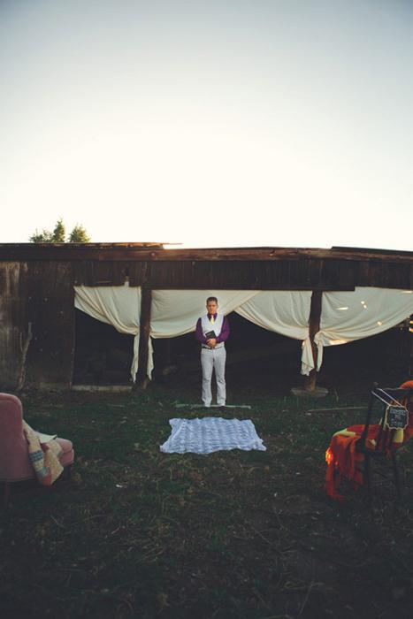 outdoor farm wedding ceremony site