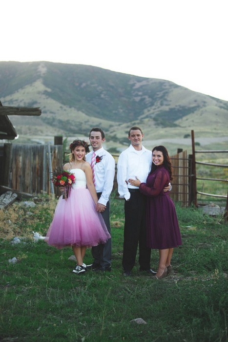 farm bridal party portrait