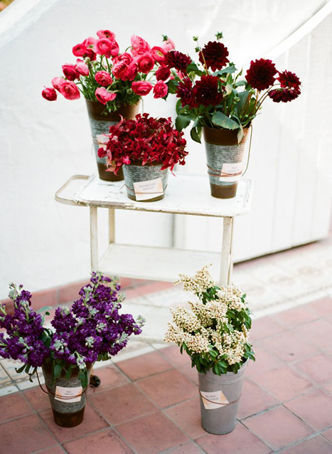 make your own bouquet flower stand