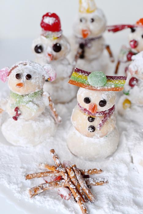 snowman shortbreads