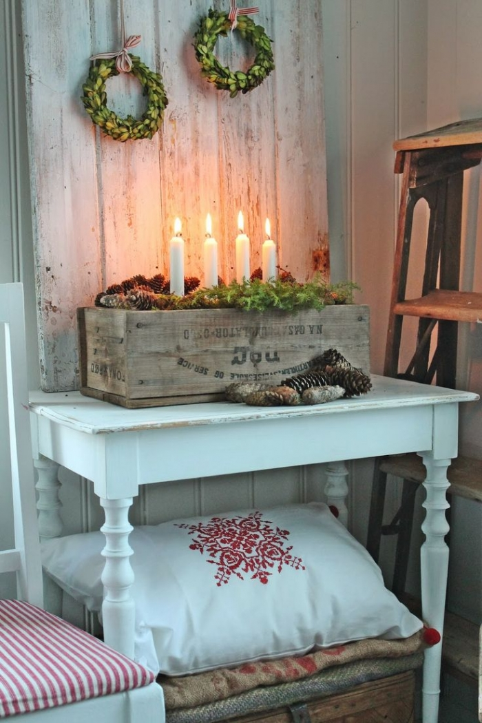vintage crate wedding christmas