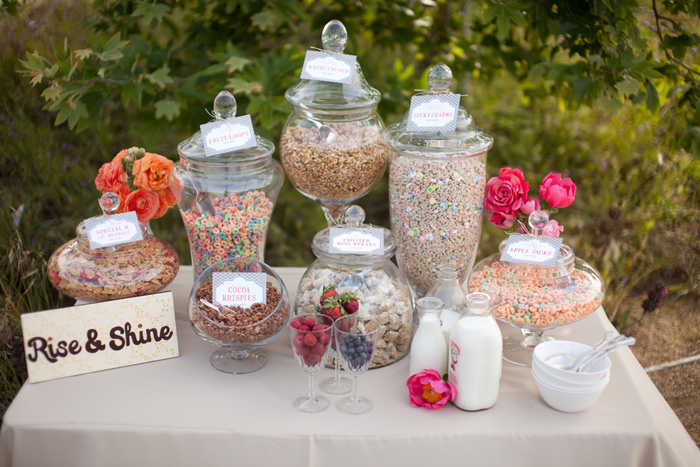wedding cereal bar