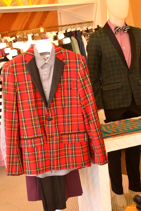 plaid jacket trina turk