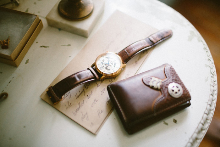 groom's leather watch