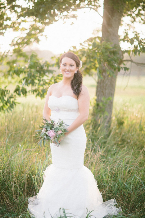outdoor bride portrait