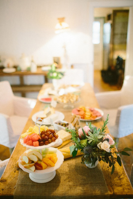 wedding spread