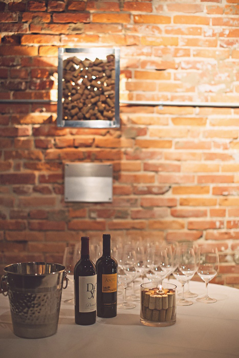wine bar wedding reception
