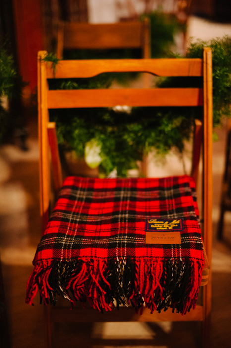 blanket covered ceremony chair
