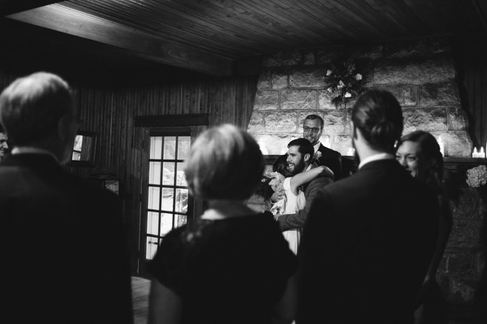 cottage wedding ceremony