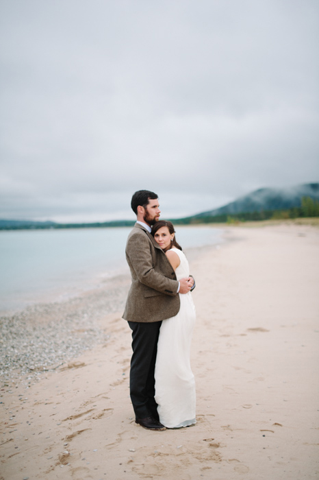 Fall Wedding portrait on the beach