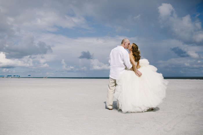 beachfront wedding portrait