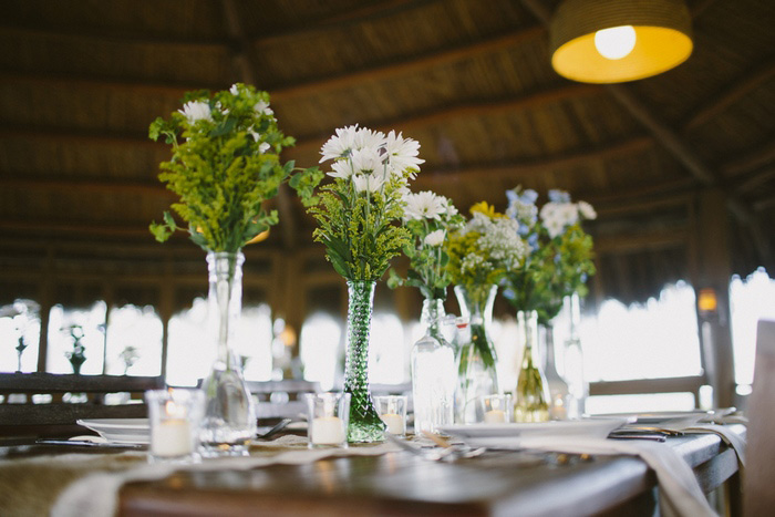 daisy wedding centerpieces