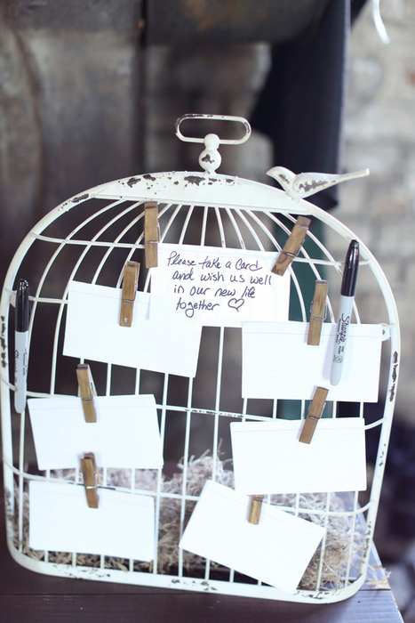 bird cage guest book