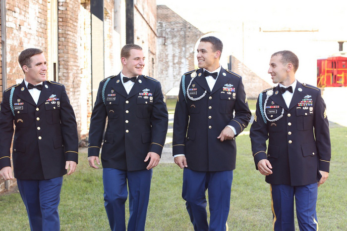 uniformed groomsmen