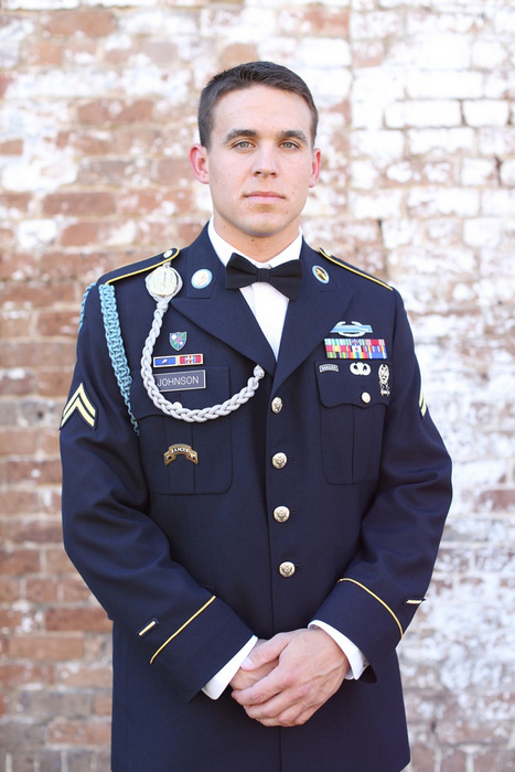 uniformed groom