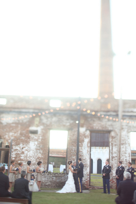 Savannah Railroad museum wedding ceremony
