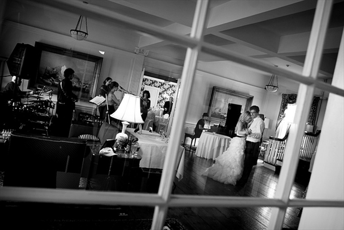 Bride and Groom at Emerson Inn by the Sea - Rockport Massachusetts