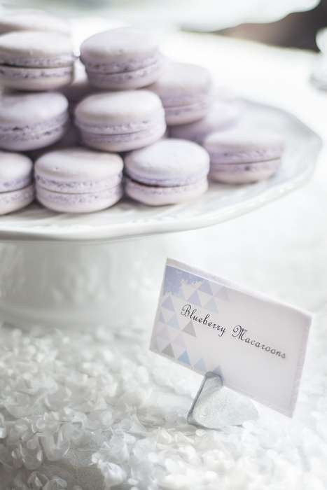 purple wedding macarons
