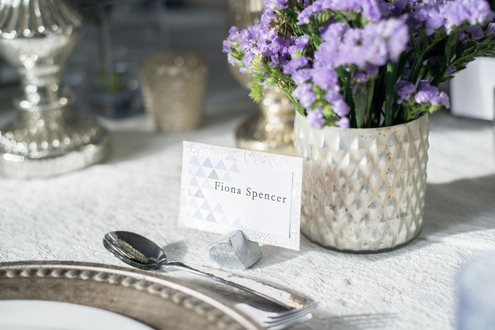 blue triangle name card