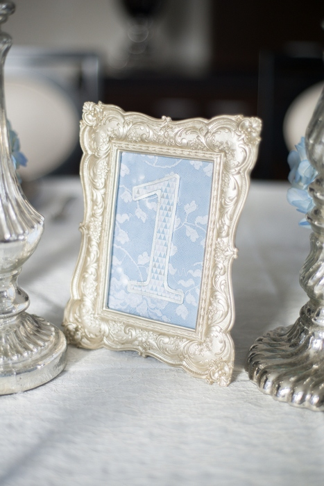 blue framed table number