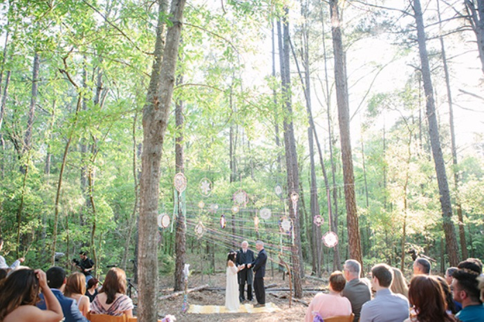 Wedding Ceremony at Retreat in the Pines - Mineola Texas