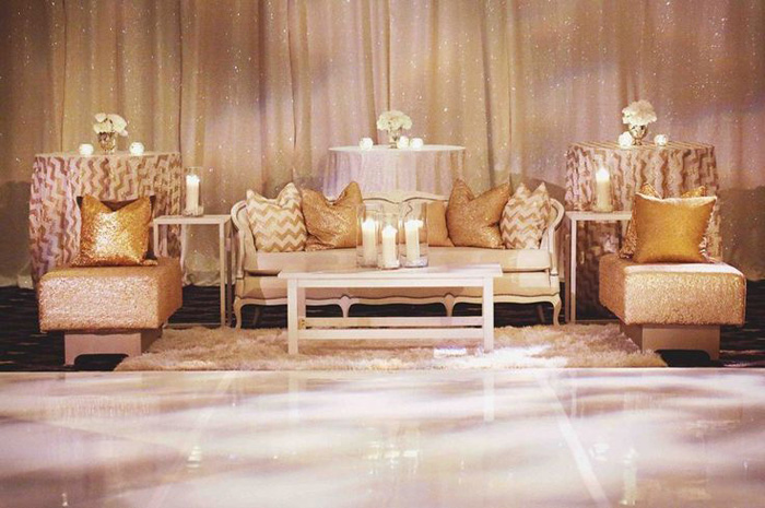 swanky wedding lounge