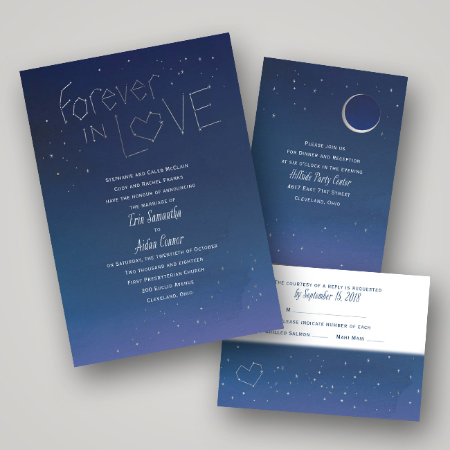 Foil Wedding Invitations by Dawn