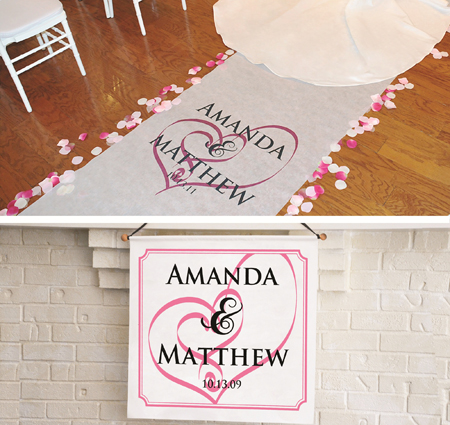 hearts aisle runner