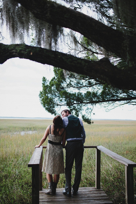 bride and groom in everglades