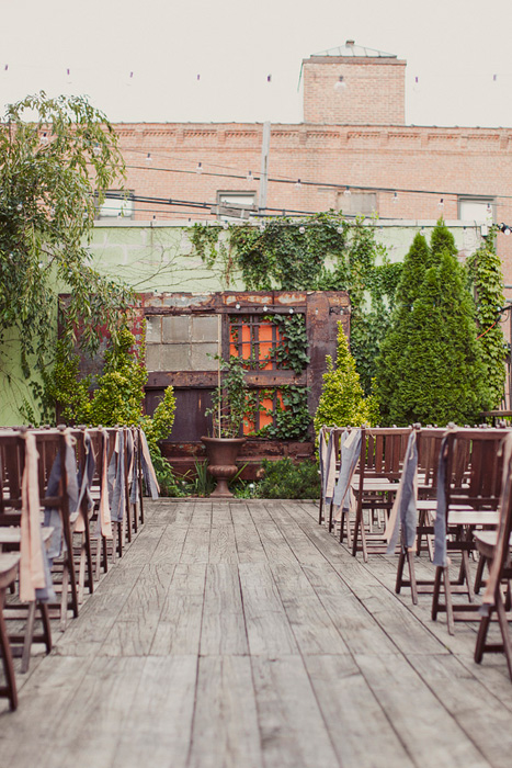 industrial rooftop wedding