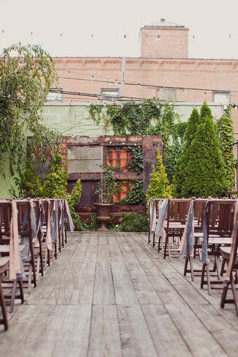 industrial rooftop wedding