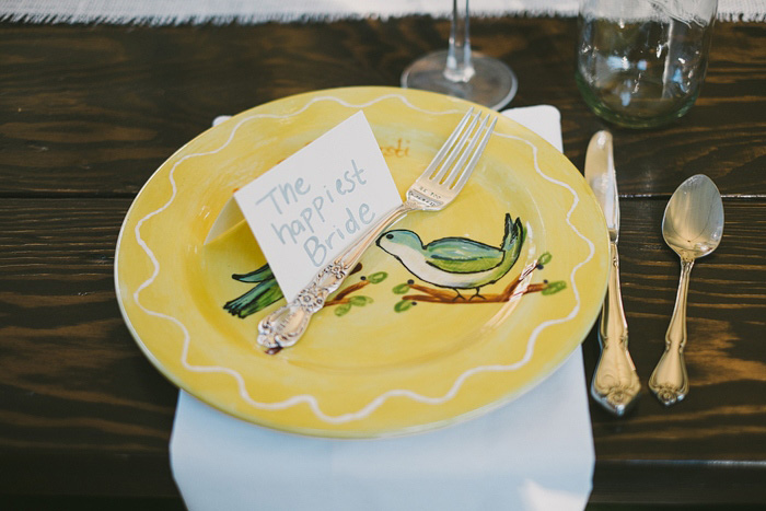 bride's place setting