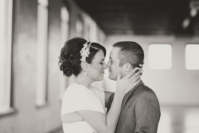 B+W wedding portrait