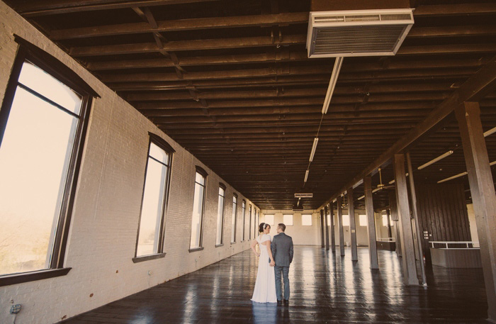 loft wedding portraits