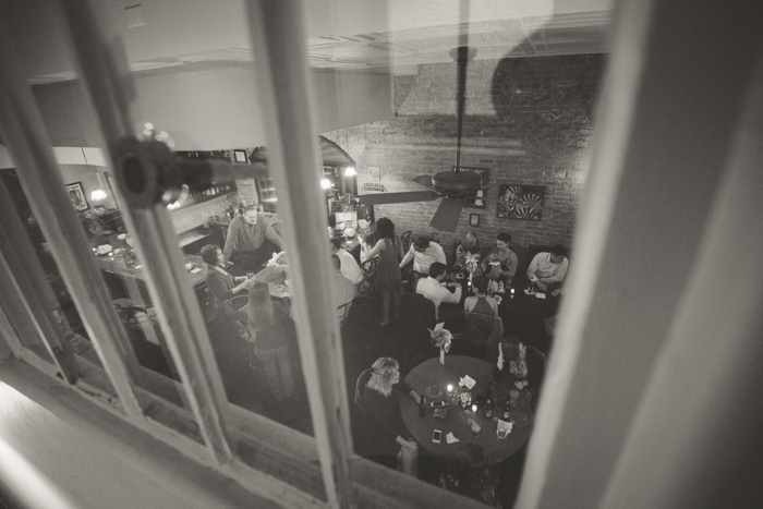 wedding reception at B+B restaurant