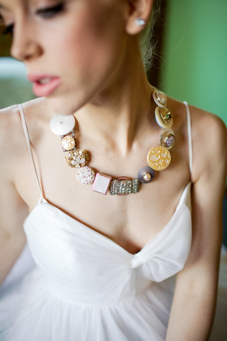 bride's button necklace