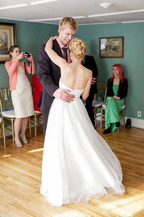 Cozy New York Living Room Wedding: Lindsay and Miro