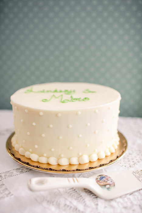 cute white wedding cake