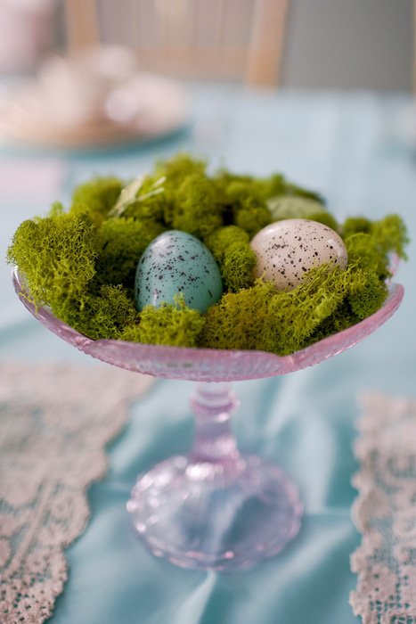 speckled egg centerpiece