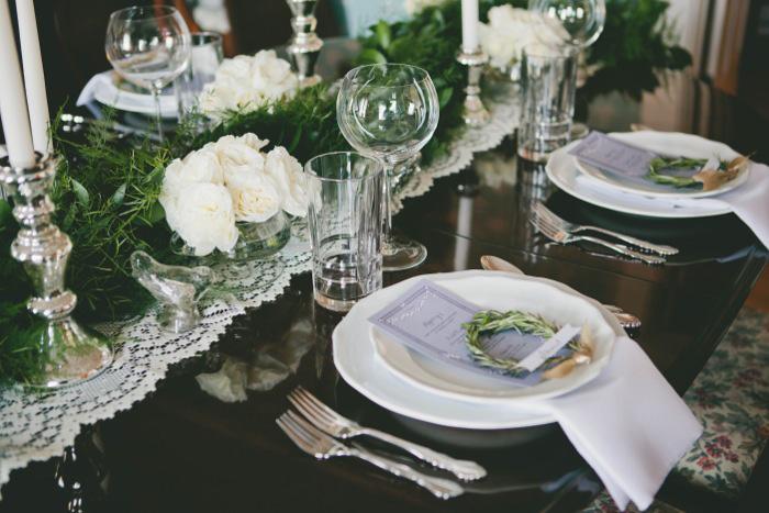 lavender themed wedding reception