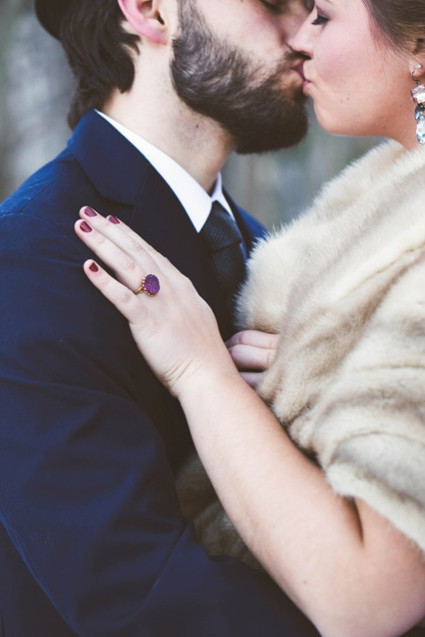 purple engagement ring