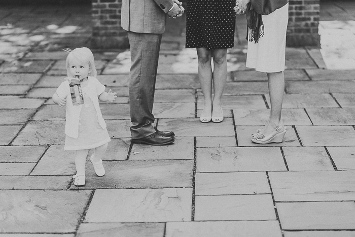 little girl at wedding ceremony