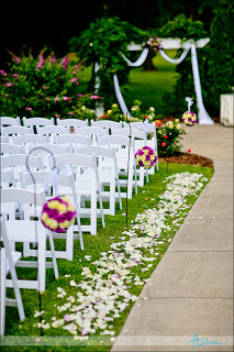 Ceremony Aisle at the Hudson Manor - Louisburg NC