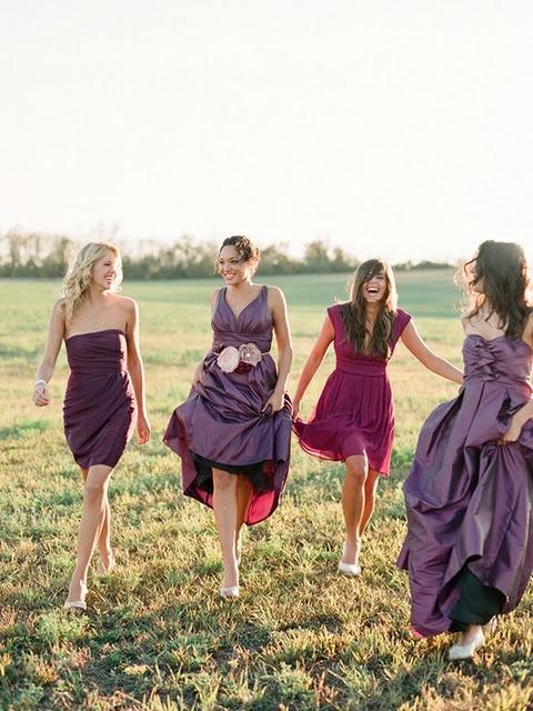 plum bridesmaid