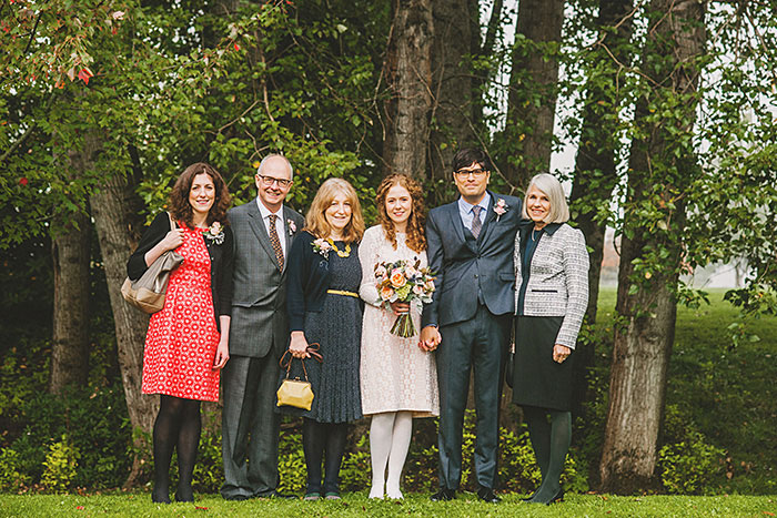 family wedding portraits in the park