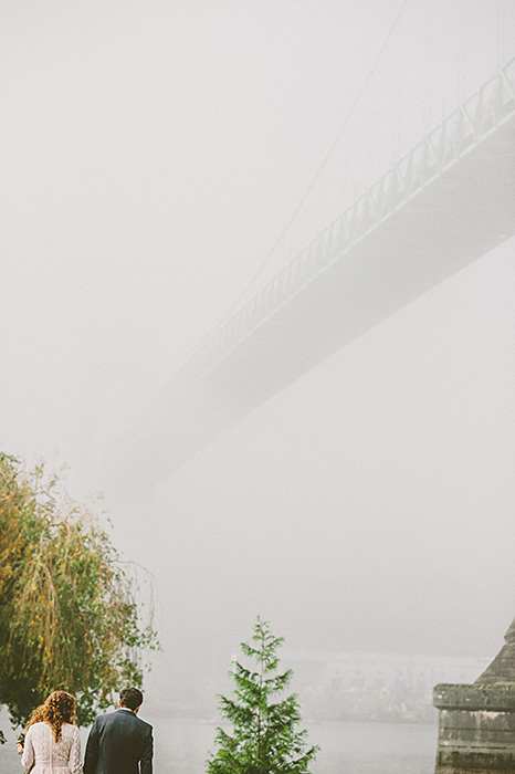 foggy portland wedding day